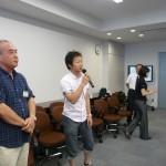 2009夏同窓会/懇談会/村奈嘉研OB代表/加藤さん